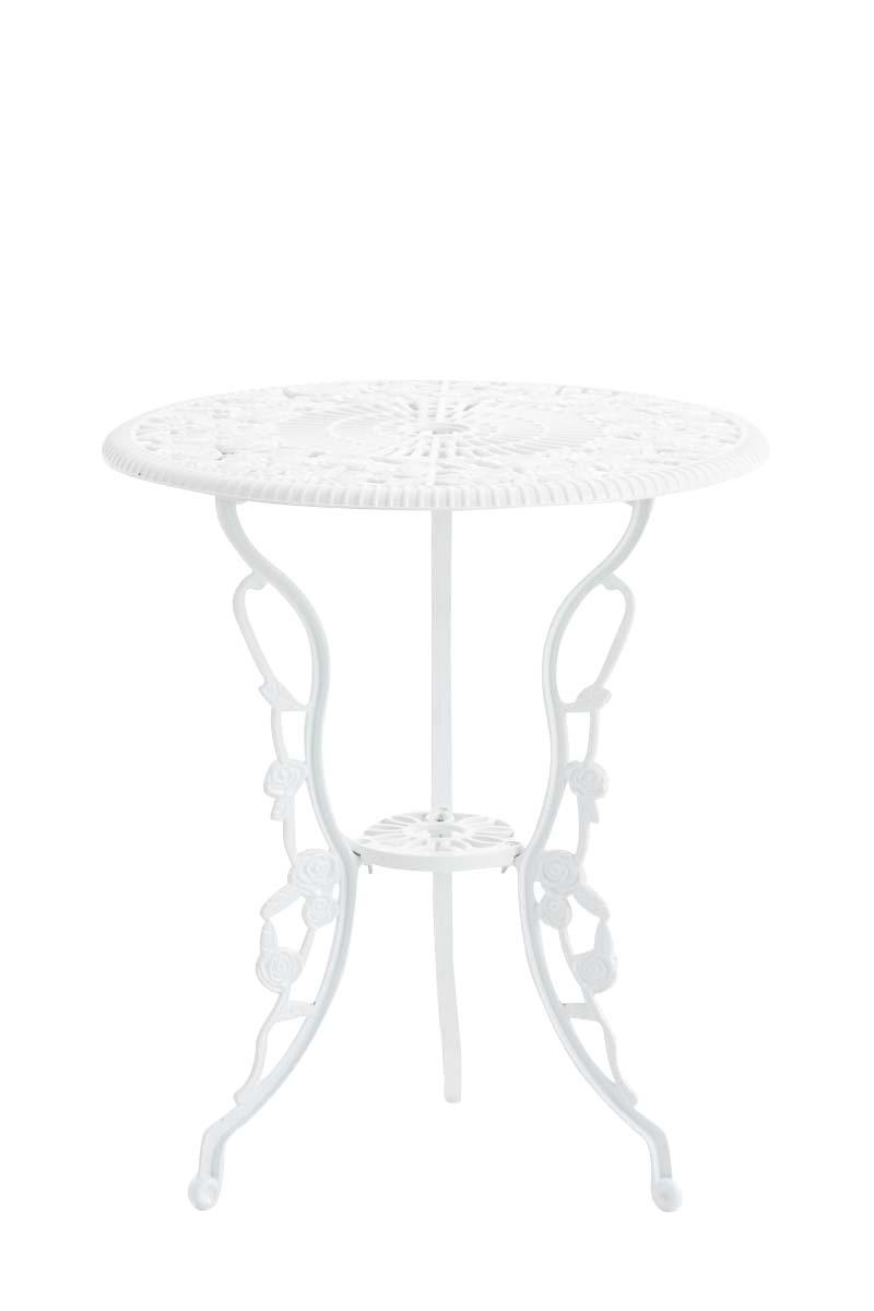 Tisch Sharma Gartentisch Terrassentisch  Eisentisch Mit Sonnenschirmloch Vintage