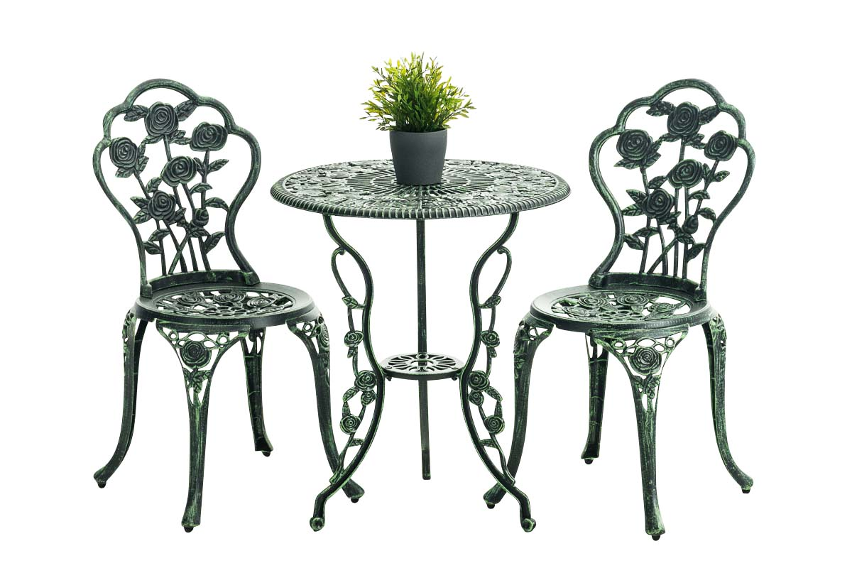 salon de jardin en fer forg sharma set meuble de jardin 1 table 2 chaises ebay. Black Bedroom Furniture Sets. Home Design Ideas