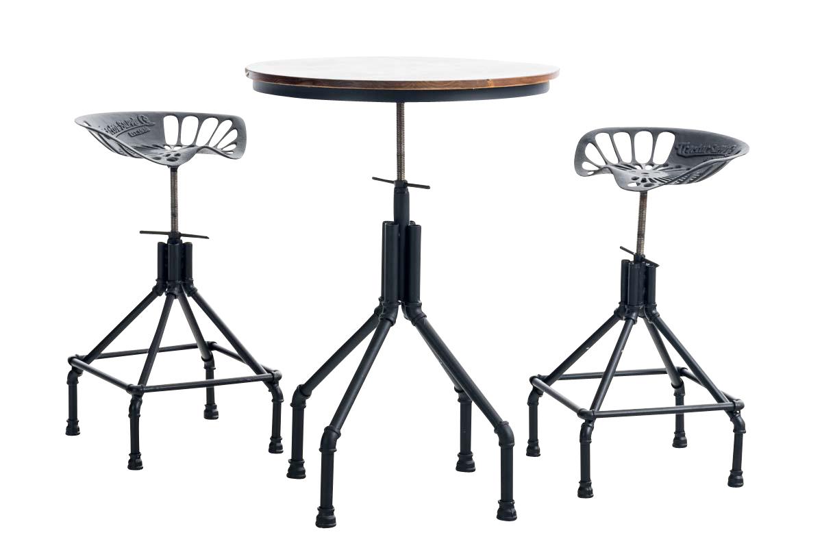 Barhocker tisch set good barhocker mit tisch set with for Kuchentisch industrial