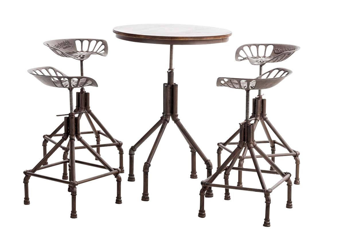 ensemble meuble de bar pipe xl 1 table ronde 4 chaises. Black Bedroom Furniture Sets. Home Design Ideas