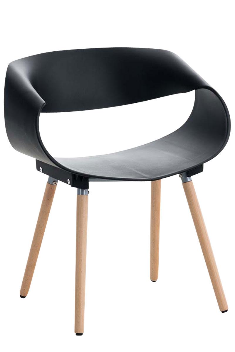 Chaise-Retro-TUVA-chaise-visiteur-design-siege-en-plastique-solide-pieds-en-bois