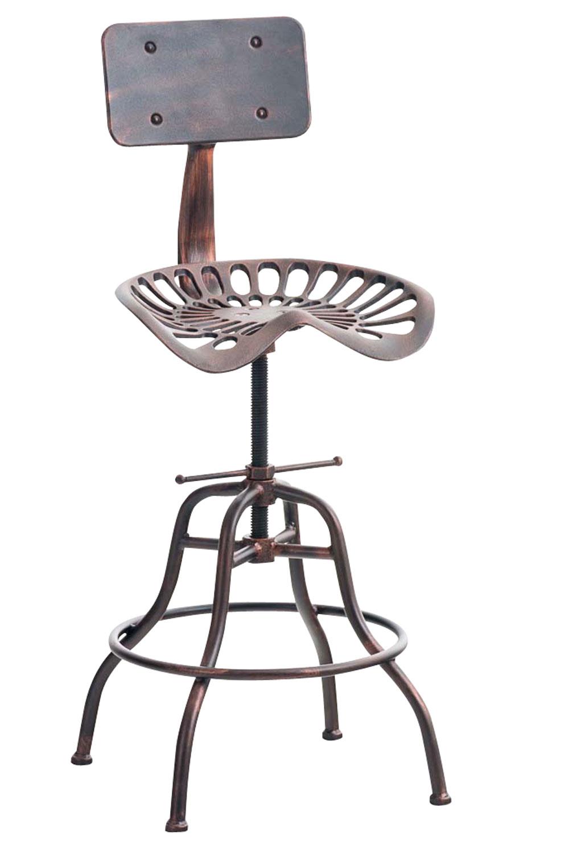 tabouret de bar industriel essen r glable en hauteur avec repose pied et dossier ebay. Black Bedroom Furniture Sets. Home Design Ideas