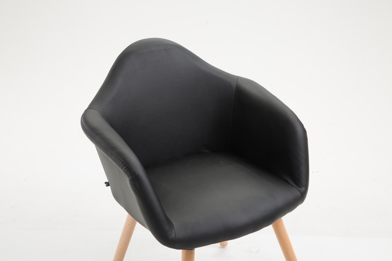 Sedia pranzo tito similpelle sedia cucina braccioli sedia for Sedia design pranzo
