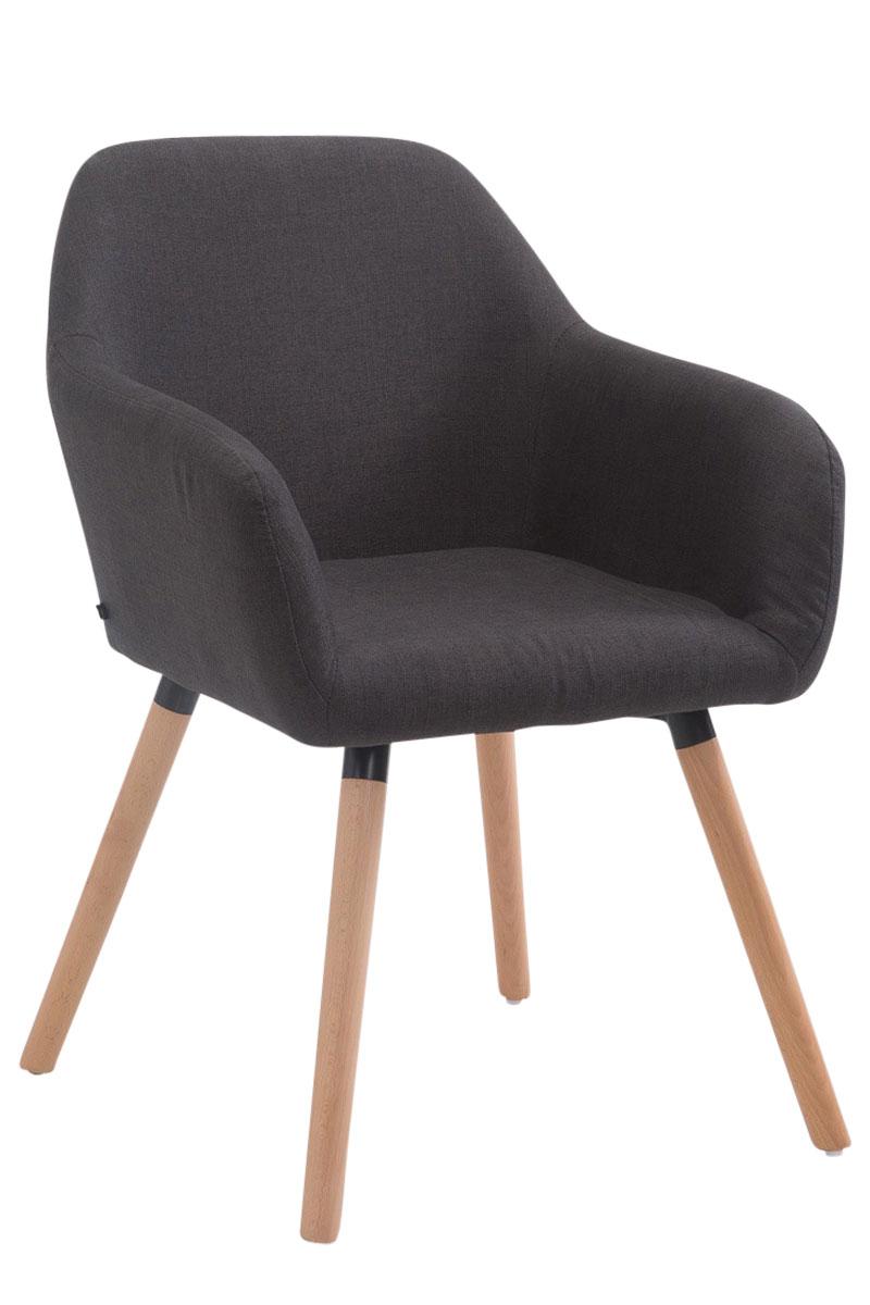 chaise visiteur achat v2 en tissu rembourr e pieds en bois design scandinave ebay. Black Bedroom Furniture Sets. Home Design Ideas
