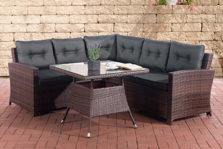 eckgarnitur sierra gartenm bel polyrattanm bel. Black Bedroom Furniture Sets. Home Design Ideas