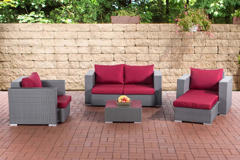 gartengarnitur sunset 2 1 1 garten loungem bel sitzgruppe 4 personen polyrattan ebay. Black Bedroom Furniture Sets. Home Design Ideas