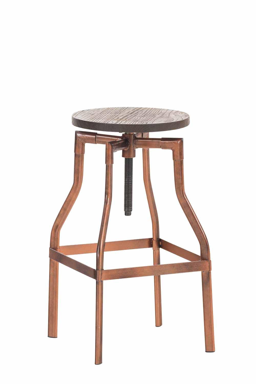 tabouret de bar industriel kara r glable en hauteur chaise de bar si ge en bois ebay. Black Bedroom Furniture Sets. Home Design Ideas