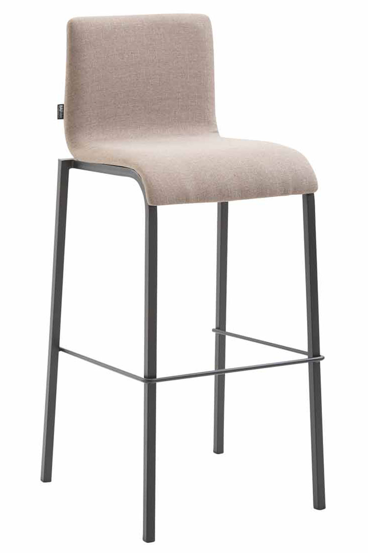 tabouret de bar kado en tissu lisse pi tement carr avec dossier et repose pied ebay. Black Bedroom Furniture Sets. Home Design Ideas