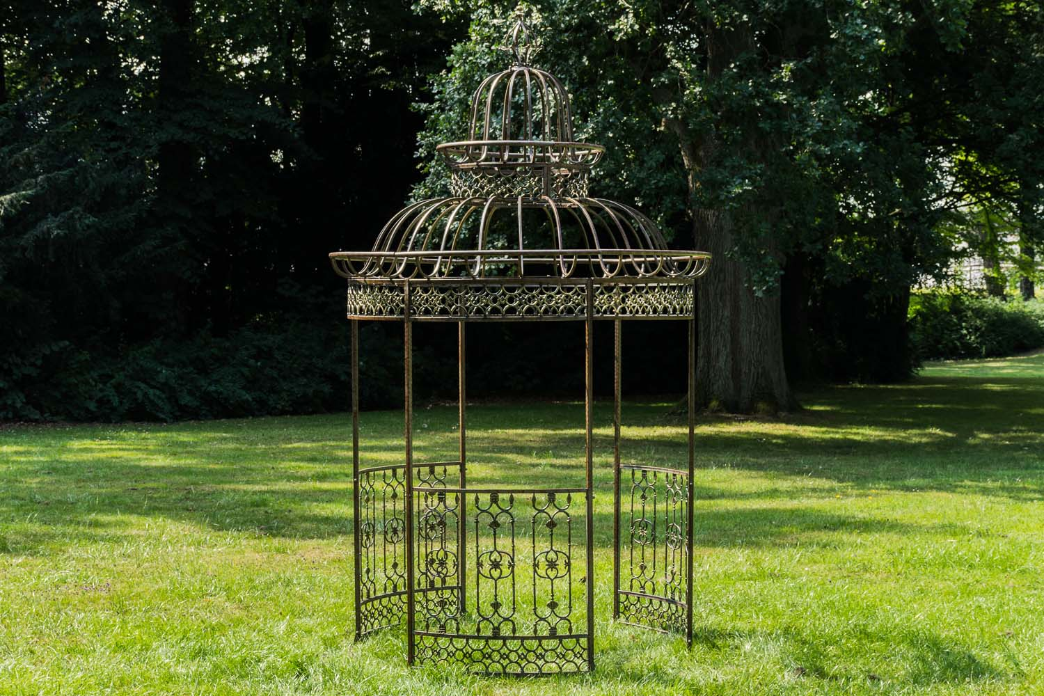 garten pavillon crown metall pavillion rund eisen gazebo pergola gartenzelt ebay. Black Bedroom Furniture Sets. Home Design Ideas