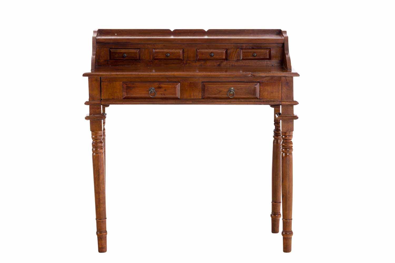 Sekretär Bourbon Schreibpult Arbeitstisch Kolonialstil Bürotisch Schreibtisch