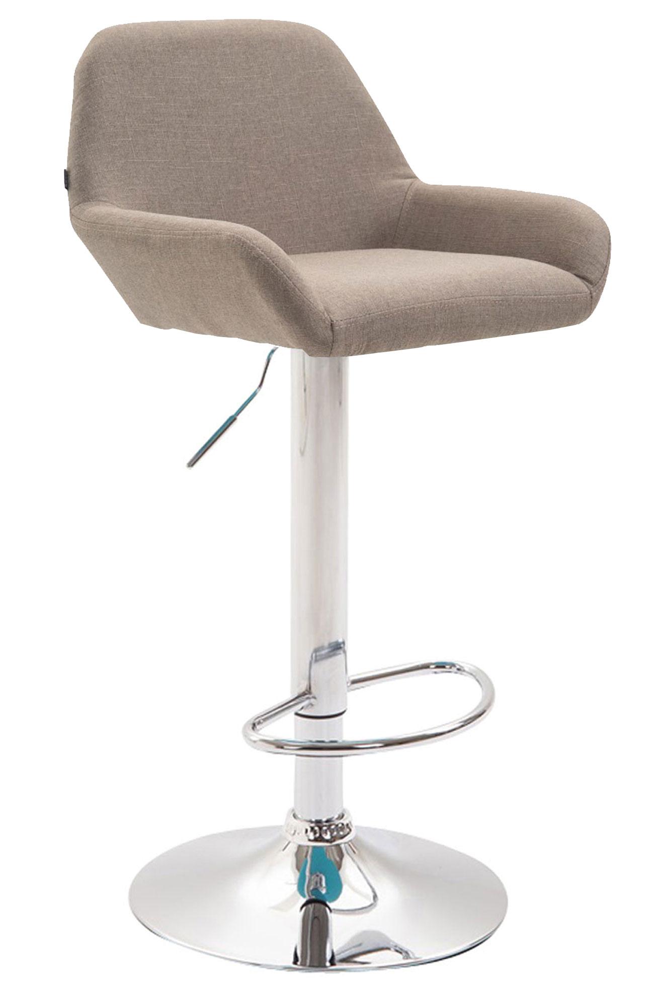 tabouret de bar braga tissu chaise haute de bar r glable. Black Bedroom Furniture Sets. Home Design Ideas
