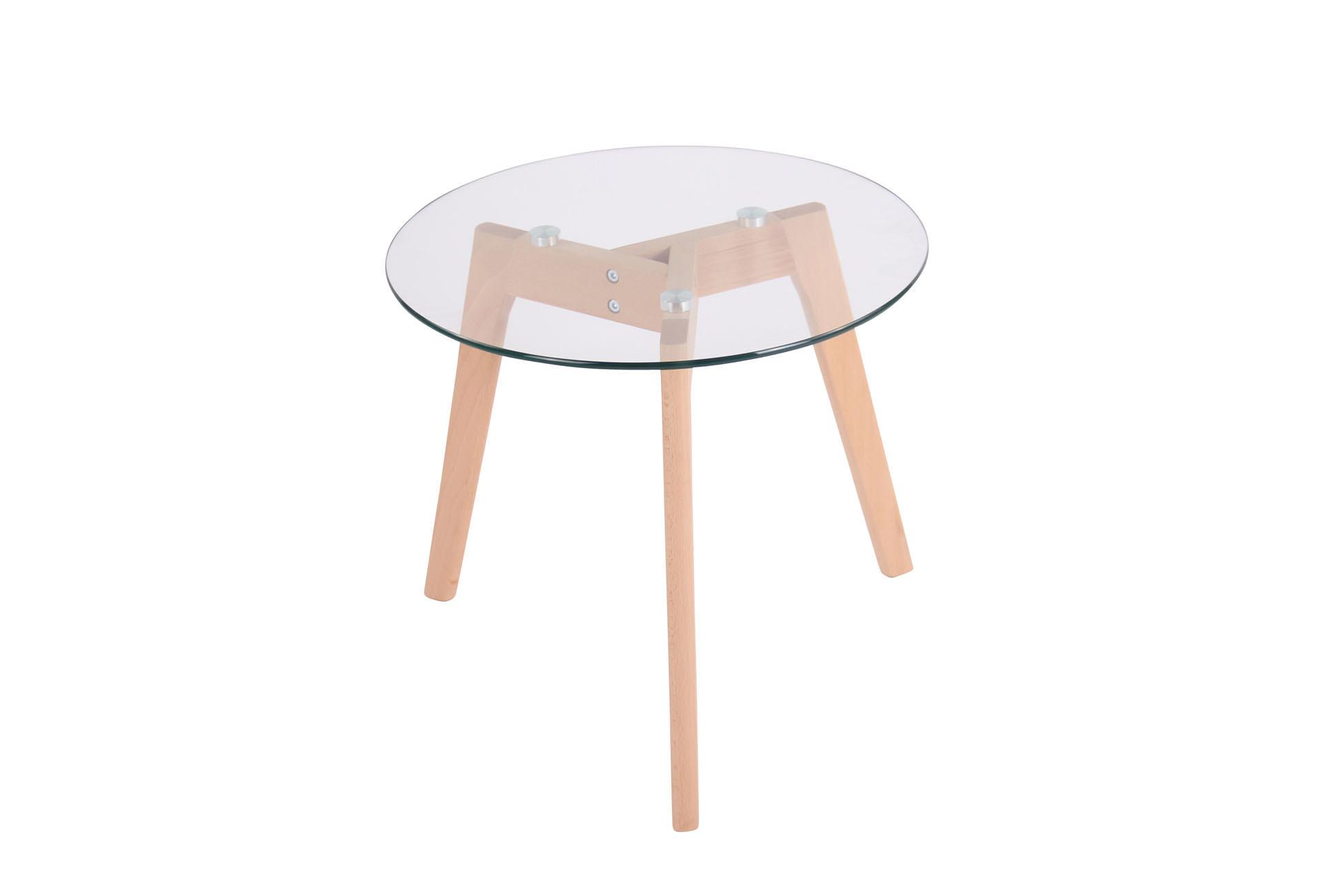 Glastisch Motala klarglas Skandi Tisch Beistelltisch Couchtisch Blumentisch