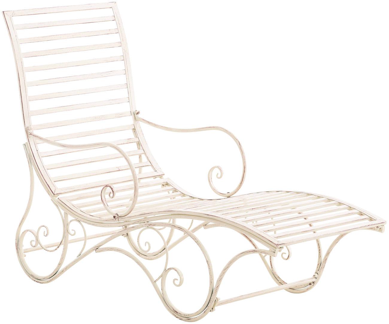 Gartenliege Amiens Sonnenliege Liegestuhl Garten Eisenliege Bank Metall Terrasse